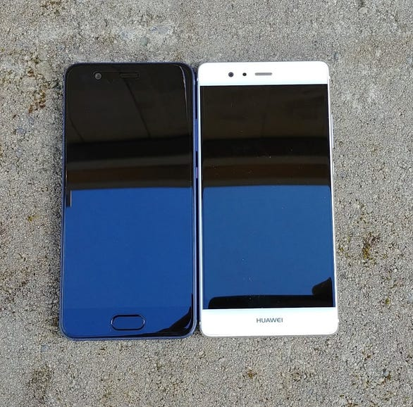 Huawei P10 and P9 front