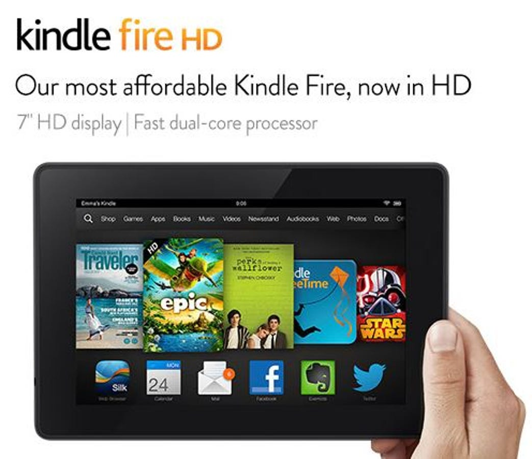Best Buy Selling Amazon Kindle Fire Hd 7 Tablet For 99 99 On Black Friday Zdnet