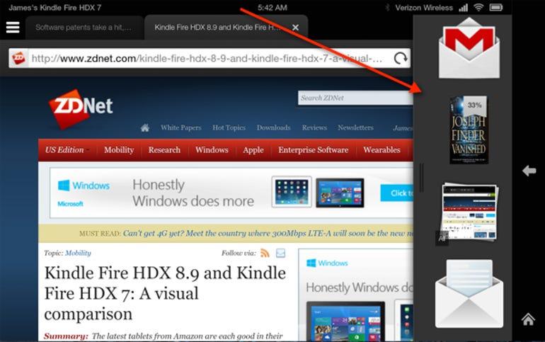 Fire OS hidden app bar
