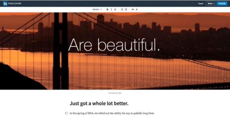 LinkedIn unveils its new blogging platform ZDNet