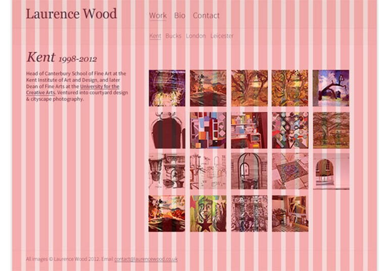 Laurence Wood desktop site