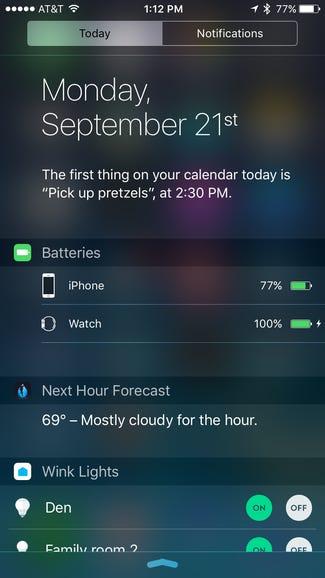 Hello new Battery widget
