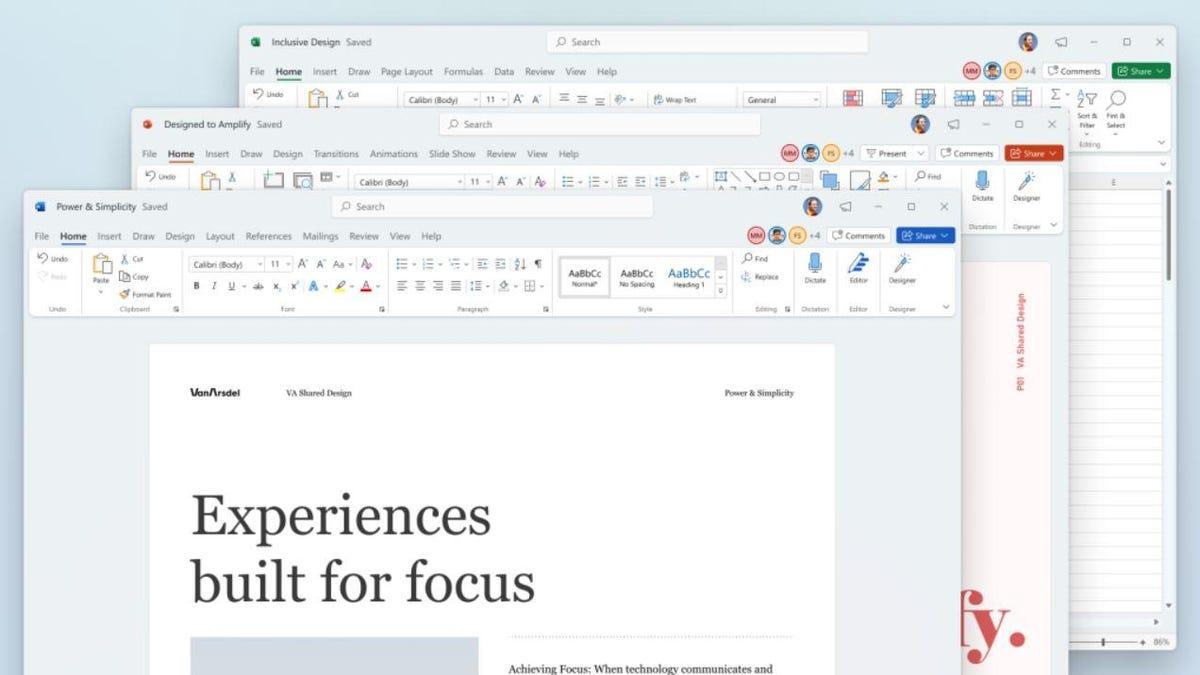 Microsoft: Une interface Office repensée, et un Office 64bits natif pour Arm
