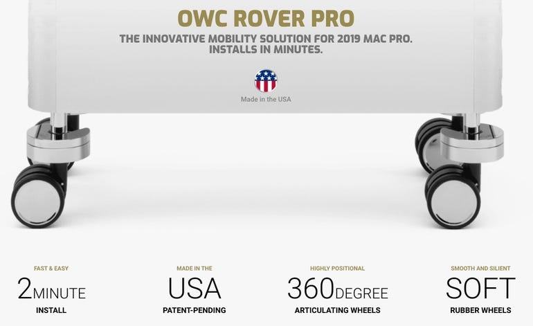 OWC Rover Pro wheels for the Mac Pro