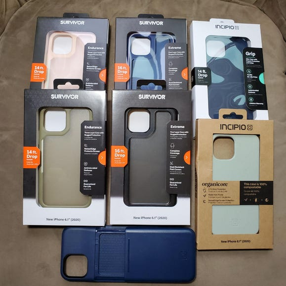 Incipio and Survivor case options for the Apple iPhone 12