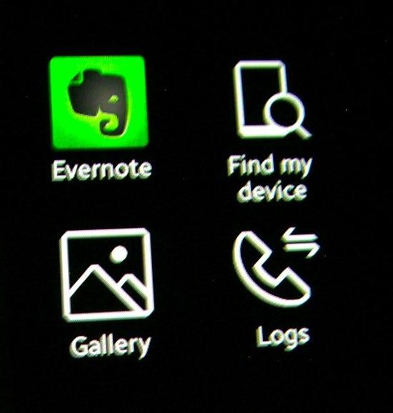 View of app launcher