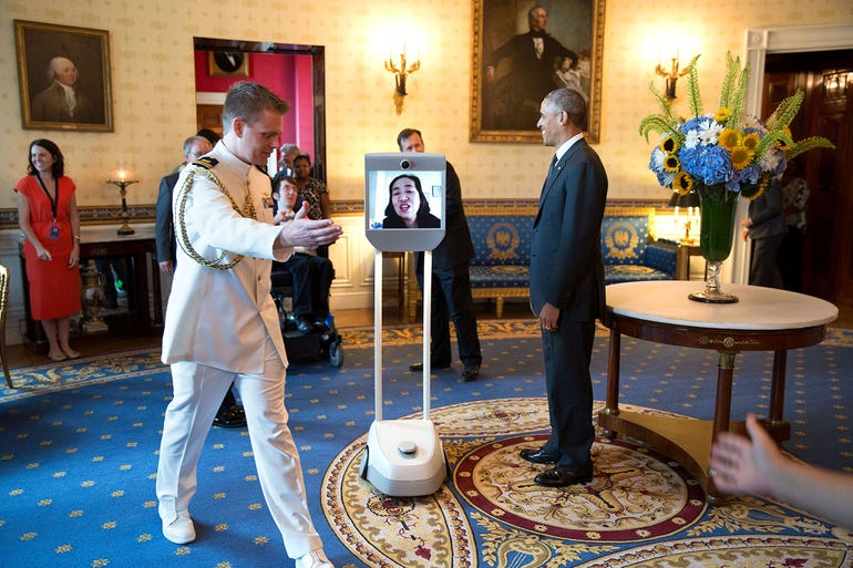 BeamPro video conferencing robot