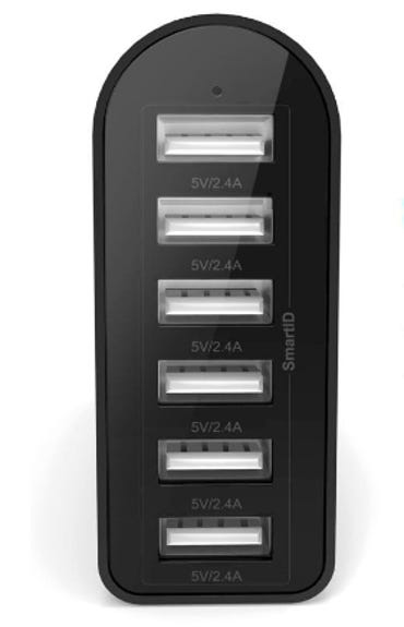 iClever 6-Port Fast USB Travel Wall Charger ZDNet