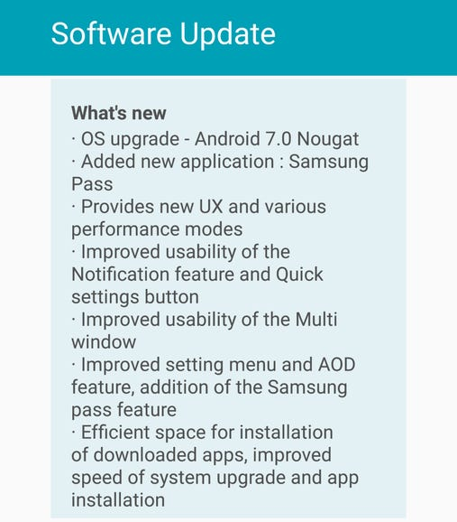 Plenty of improvements in the Nougat update