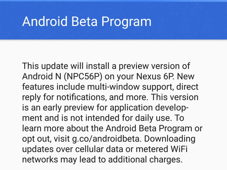 Android N Preview 1 is now available for developers