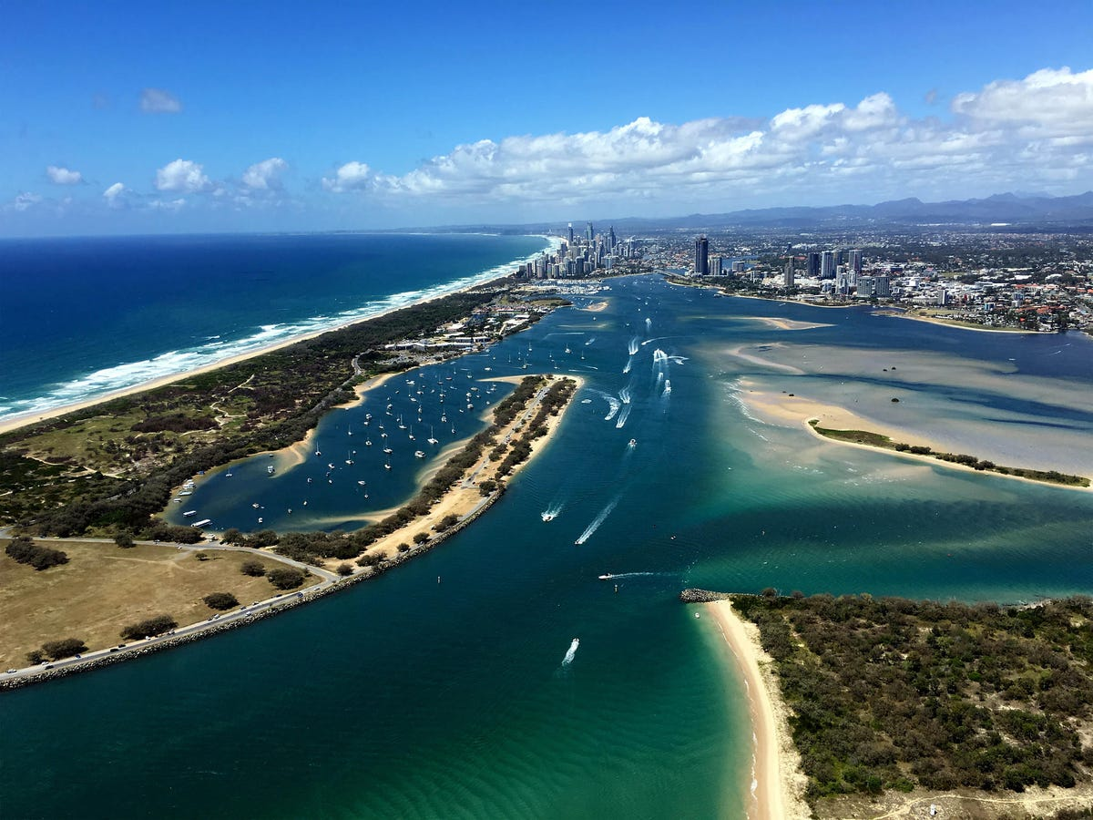 Boats on the Broadwater Gold Coast, Queensland