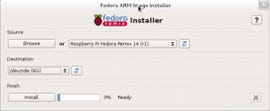 Fedora Linux is now ready to be installed on the Raspberry Pi.
