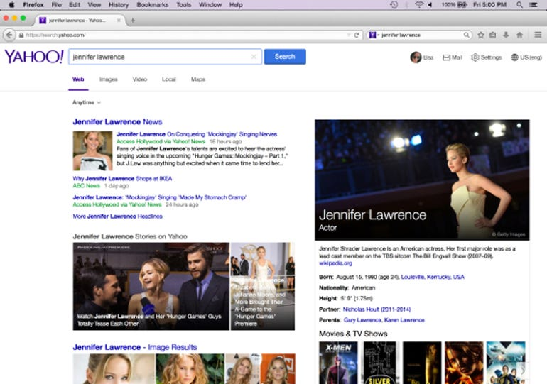 The New Firefox Yahoo search
