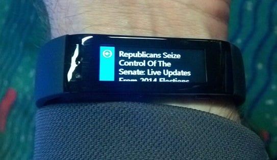 Cortana showing me the news
