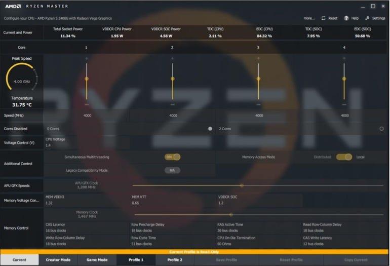 AMD Ryzen Master 1.2