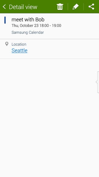 Time, date, and location are recognized by the Note 4 software