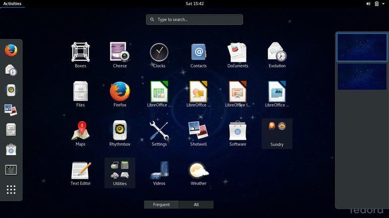 Fedora 24 GNOME 3.20