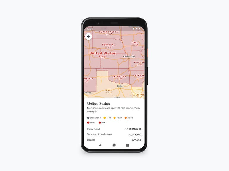 Google Maps to share COVID-19 case count and public transport occupancy details | ZDNet