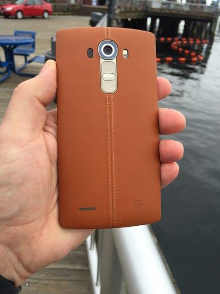 T-Mobile leather back option