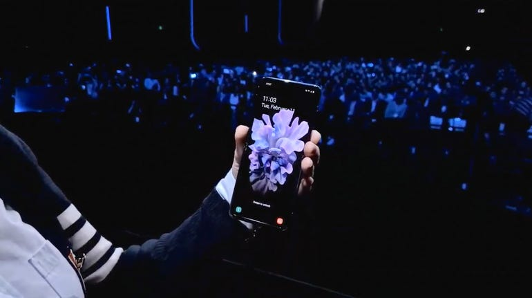 It's demoing the device on stage...
