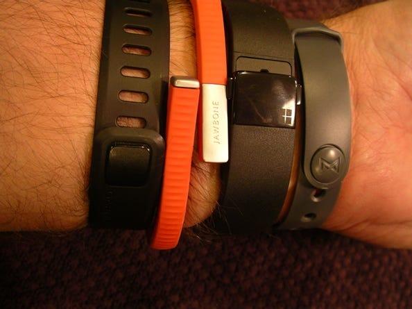 Clasps on the Garmin Vivofit, Jawbone UP24, Microsoft Band, and Misfit Flash