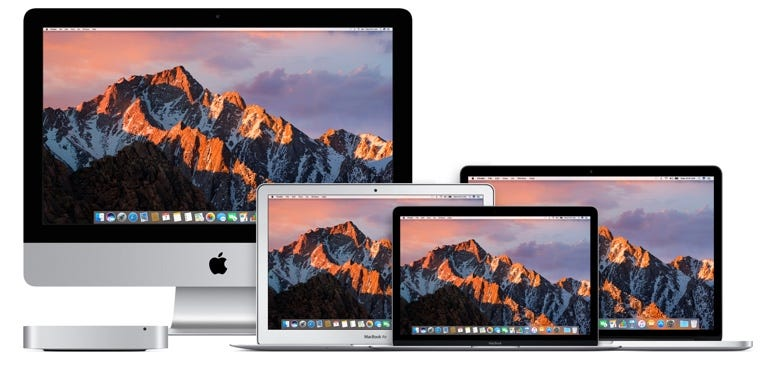 ​Apple's current Mac lineup