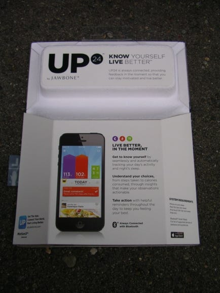 Back of the UP24 retail package