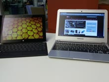 Surface RT vs. Samsung Chromebook: On the road