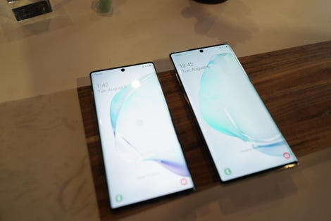 Samsung Galaxy Note 10 and 10 Plus
