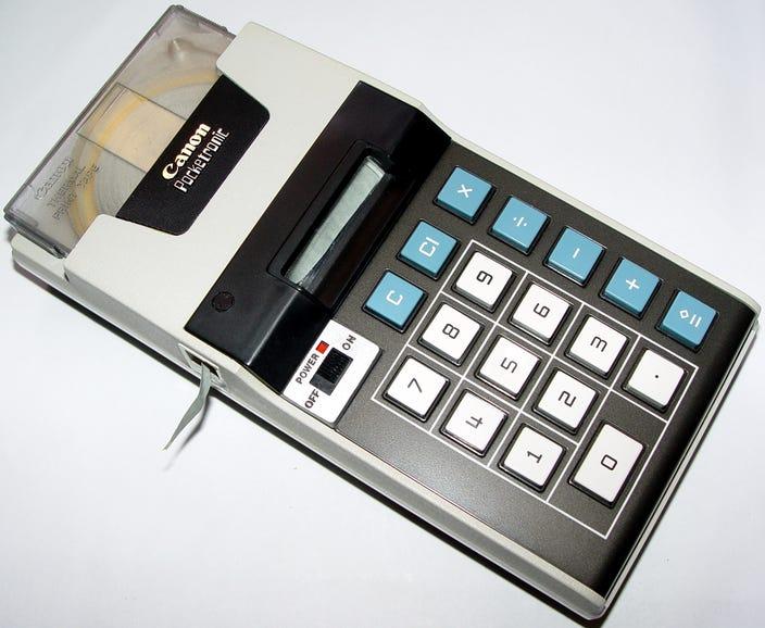 1970: Canon Pocketronic Calculator