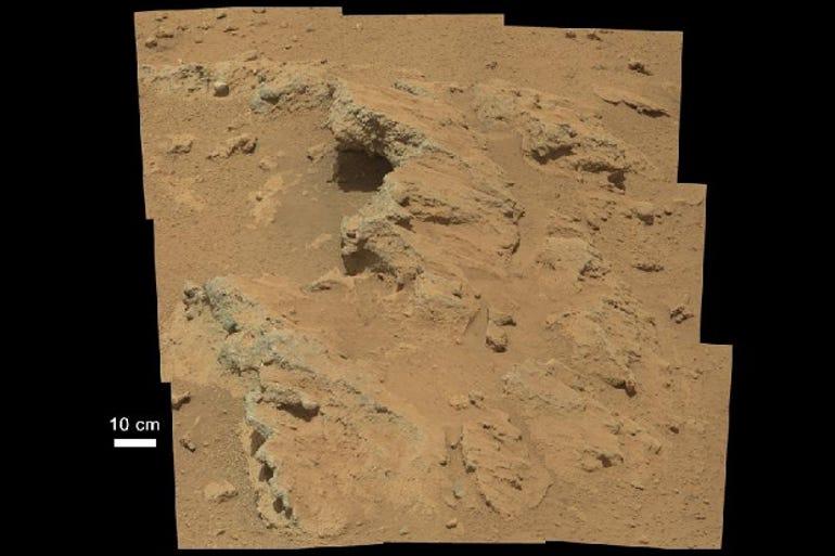 Mars ancient riverbed