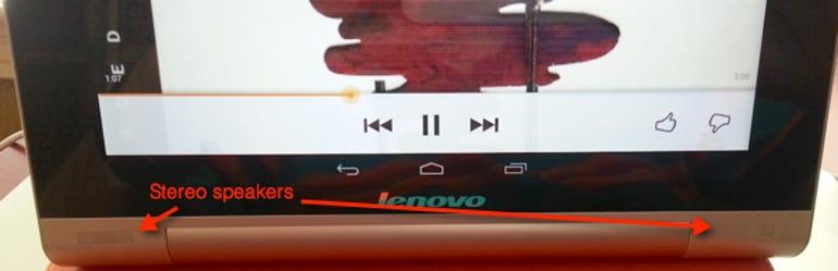 Yoga Tablet 10 speakers