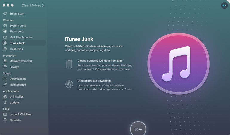 CleanMyMac X - iTunes Junk