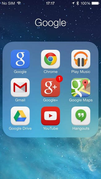 Google services on the iPhone 5s