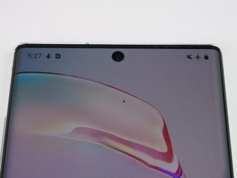 Small hole-punch camera on the new Note 10