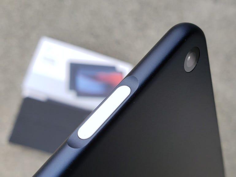 Fingerprint scanner in the power button