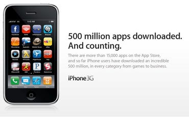 Half a billion apps downloaded from App Store