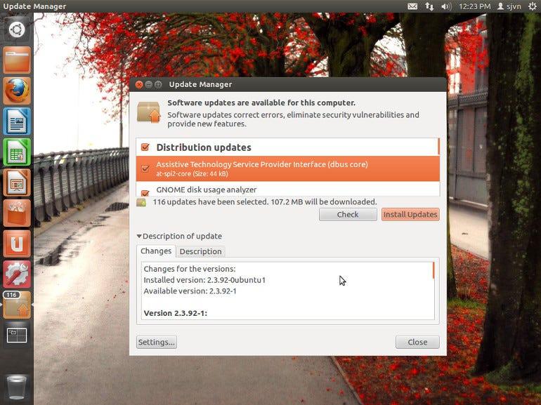 Ubuntu 12.04 Update
