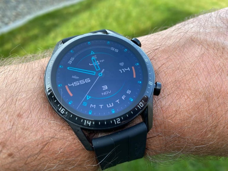 Wearing with typical watch face