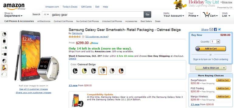 amazon galaxy gear