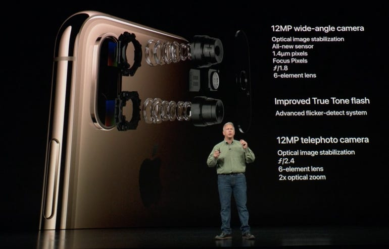 iPhone XS rear cameras