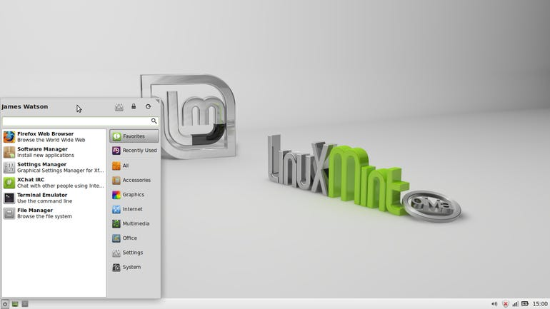 Mint 15 Xfce