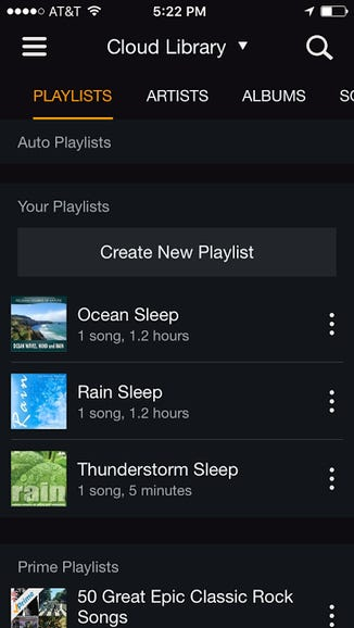 7. New playlist is visible