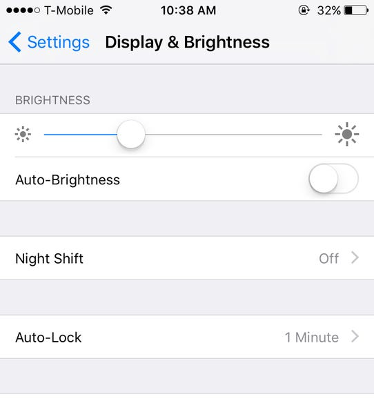 Disable auto-brightness and adjust manually