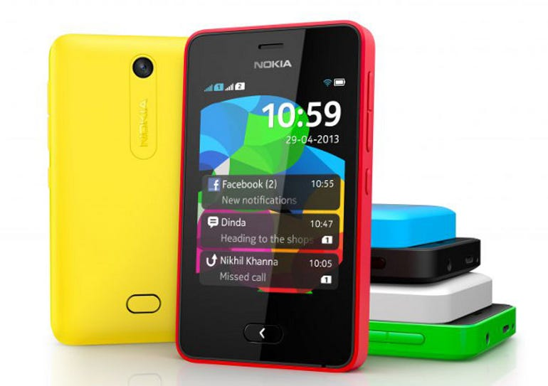 The Asha 501, one of the many semi-smartphones Nokia sells in Africa