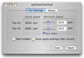 smcFanControl screen shot