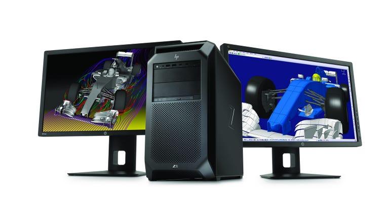 HP Z8 Workstation with dual HP Z27x Displays