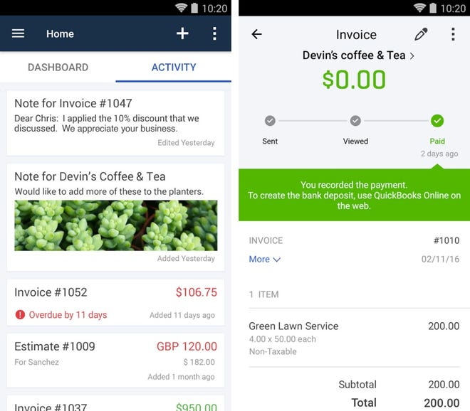 Invoice, estimates, and inventory on the go