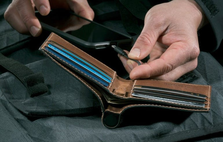 A wallet that's also an emergency charger