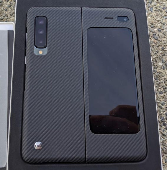 Back of the Fold with the carbon fiber case